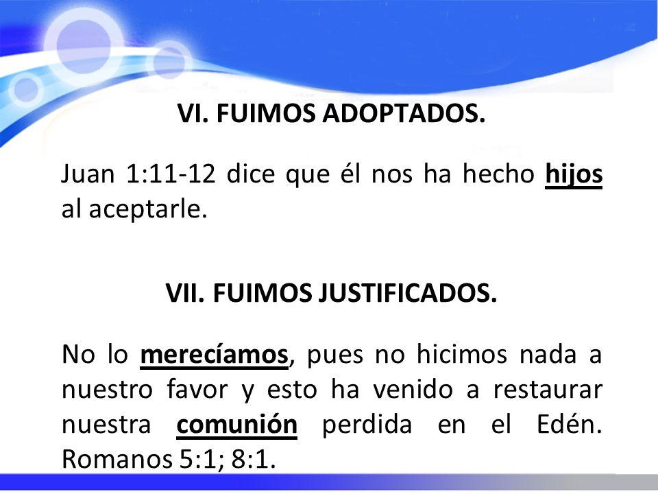 VII. FUIMOS JUSTIFICADOS.