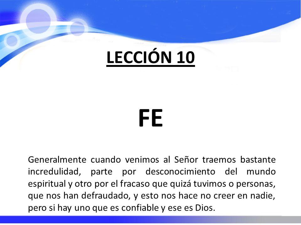 LECCIÓN 10 FE.