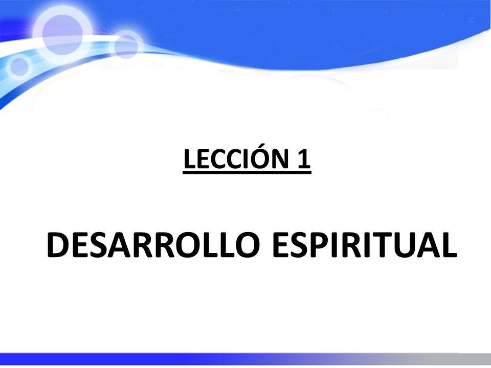 DESARROLLO ESPIRITUAL