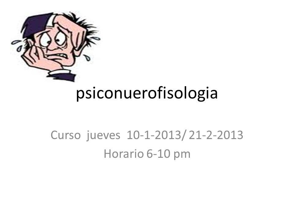Curso jueves 10-1-2013/ 21-2-2013 Horario 6-10 pm