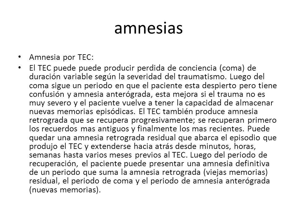 amnesias Amnesia por TEC: