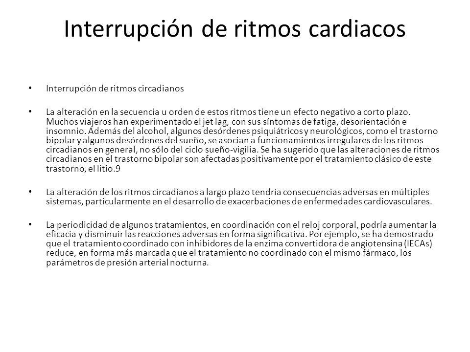 Interrupción de ritmos cardiacos