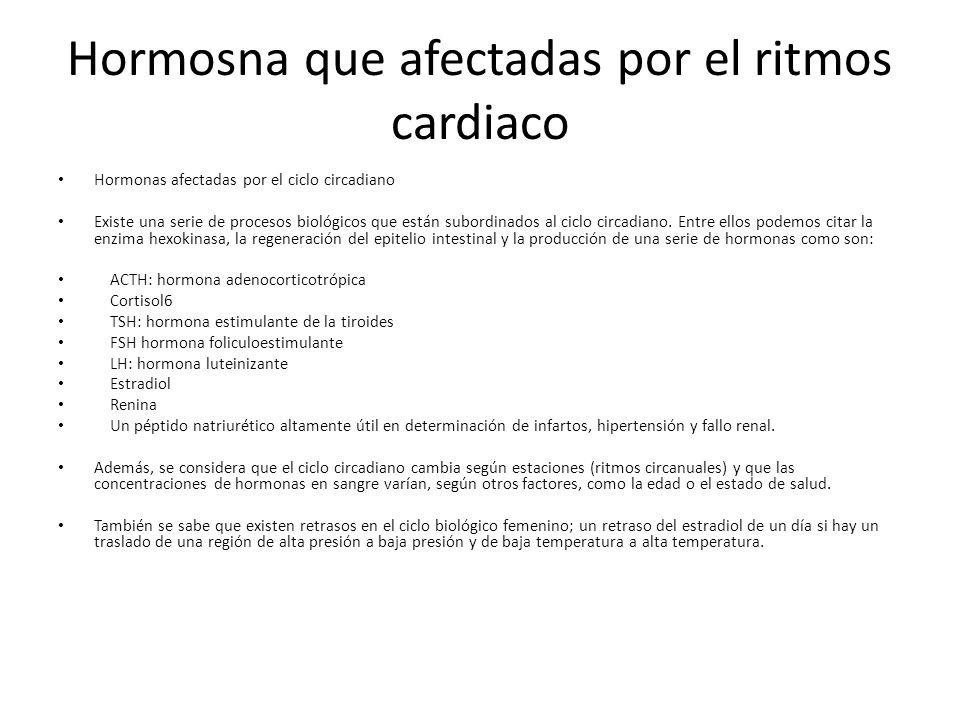 Hormosna que afectadas por el ritmos cardiaco