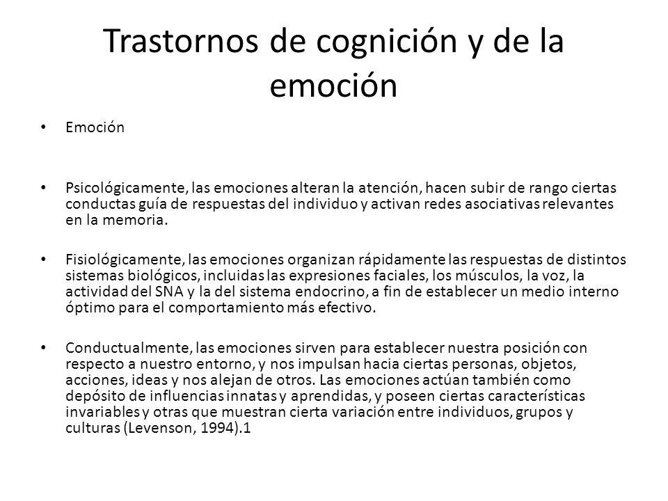 Trastornos de cognición y de la emoción