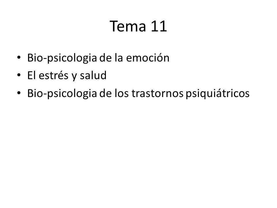 Tema 11 Bio-psicologia de la emoción El estrés y salud