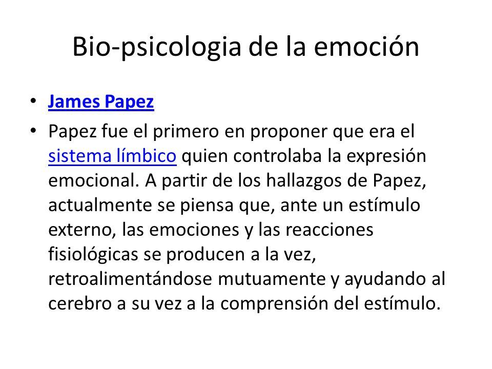 Bio-psicologia de la emoción