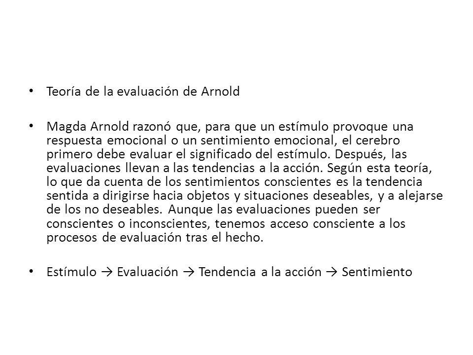 Teoría de la evaluación de Arnold