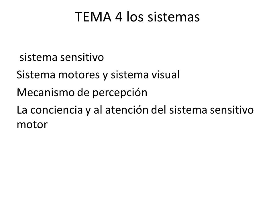 TEMA 4 los sistemas