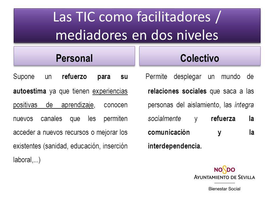 Las TIC como facilitadores / mediadores en dos niveles