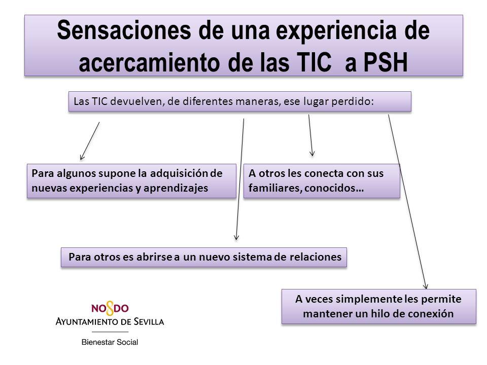 Sensaciones de una experiencia de acercamiento de las TIC a PSH