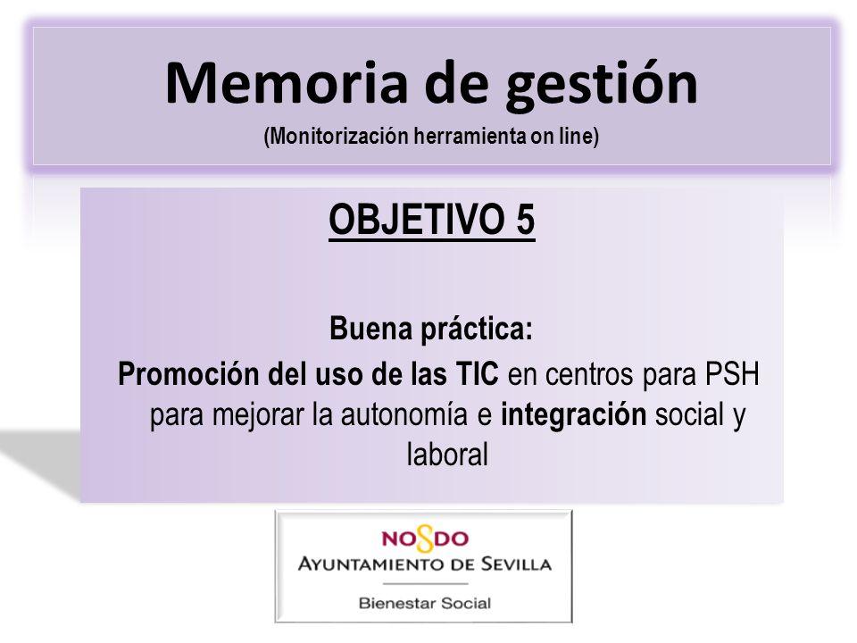 Memoria de gestión (Monitorización herramienta on line)