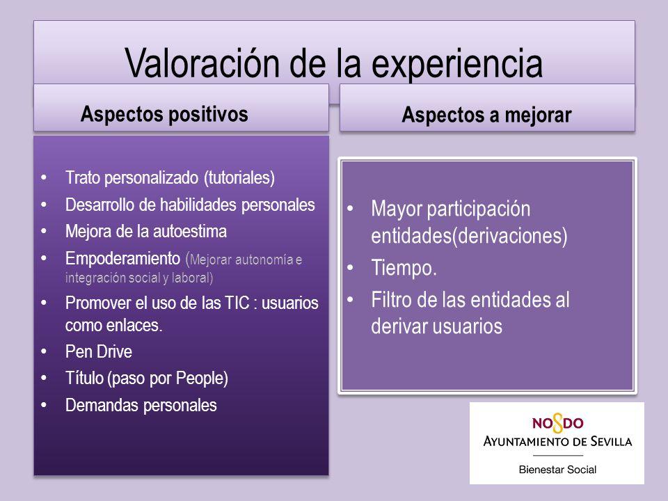 Valoración de la experiencia