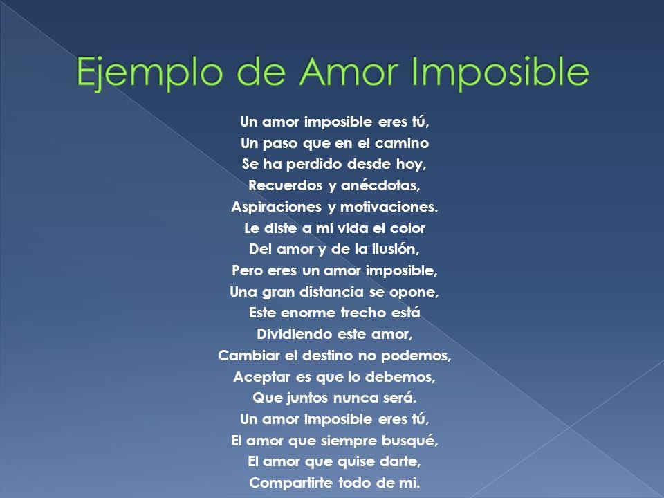 Ejemplo de Amor Imposible