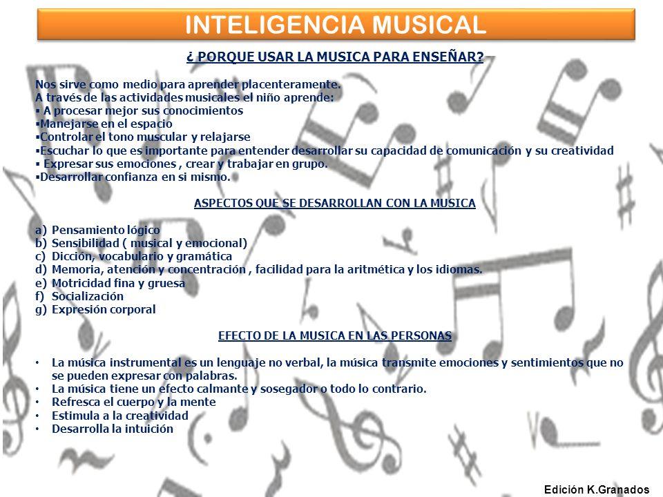INTELIGENCIA MUSICAL ¿ PORQUE USAR LA MUSICA PARA ENSEÑAR