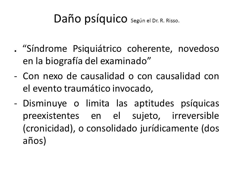 Daño psíquico Según el Dr. R. Risso.