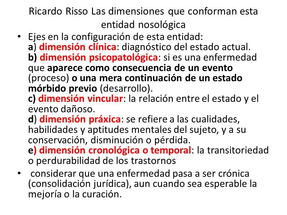 Ricardo Risso Las dimensiones que conforman esta entidad nosológica