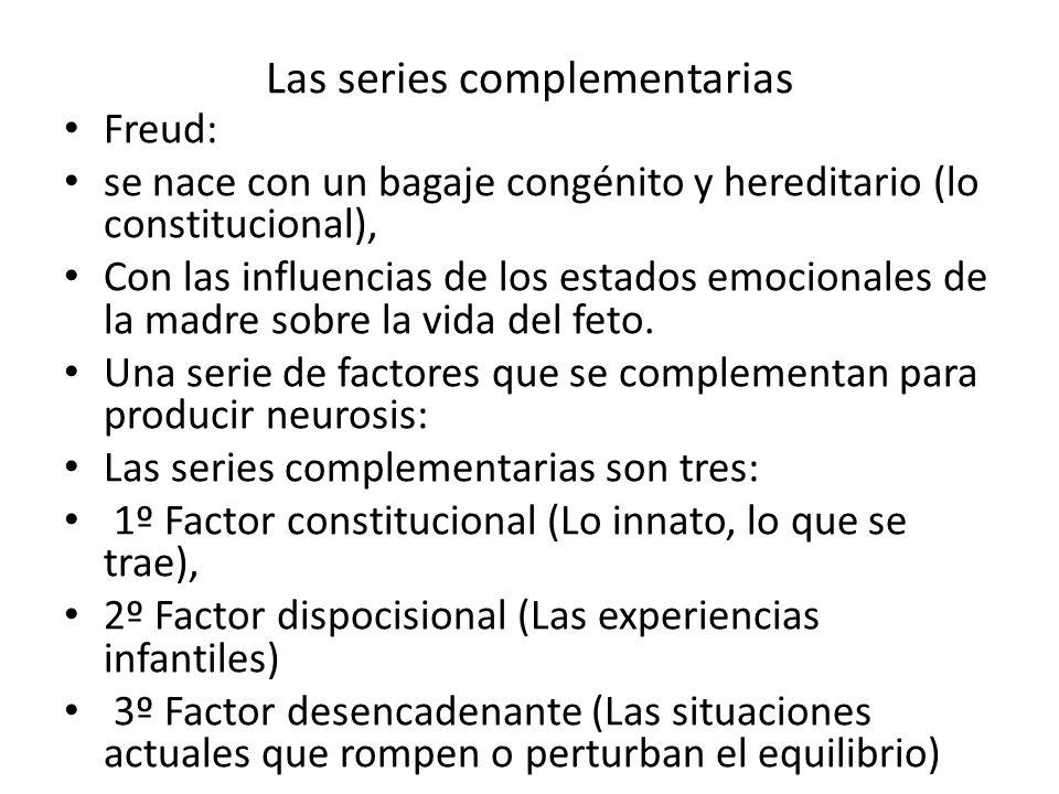 Las series complementarias