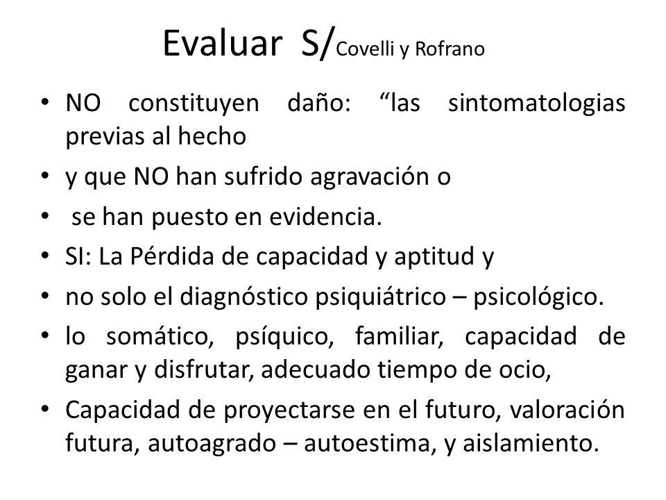 Evaluar S/Covelli y Rofrano