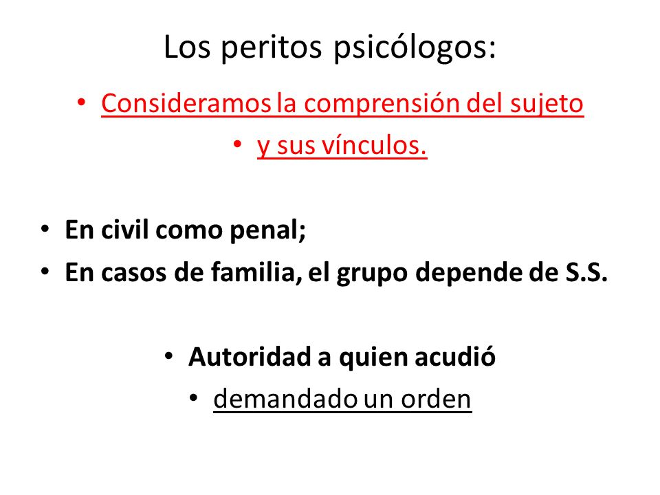 Los peritos psicólogos: