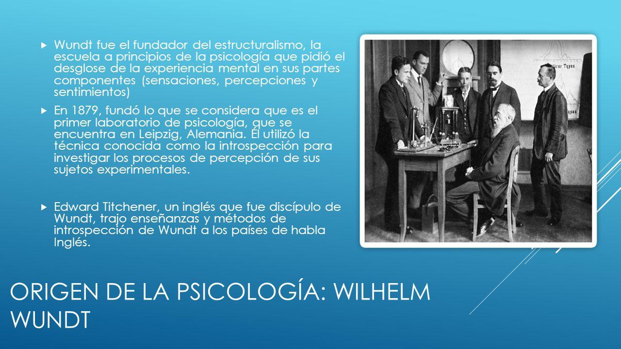 Origen de la psicología: Wilhelm Wundt