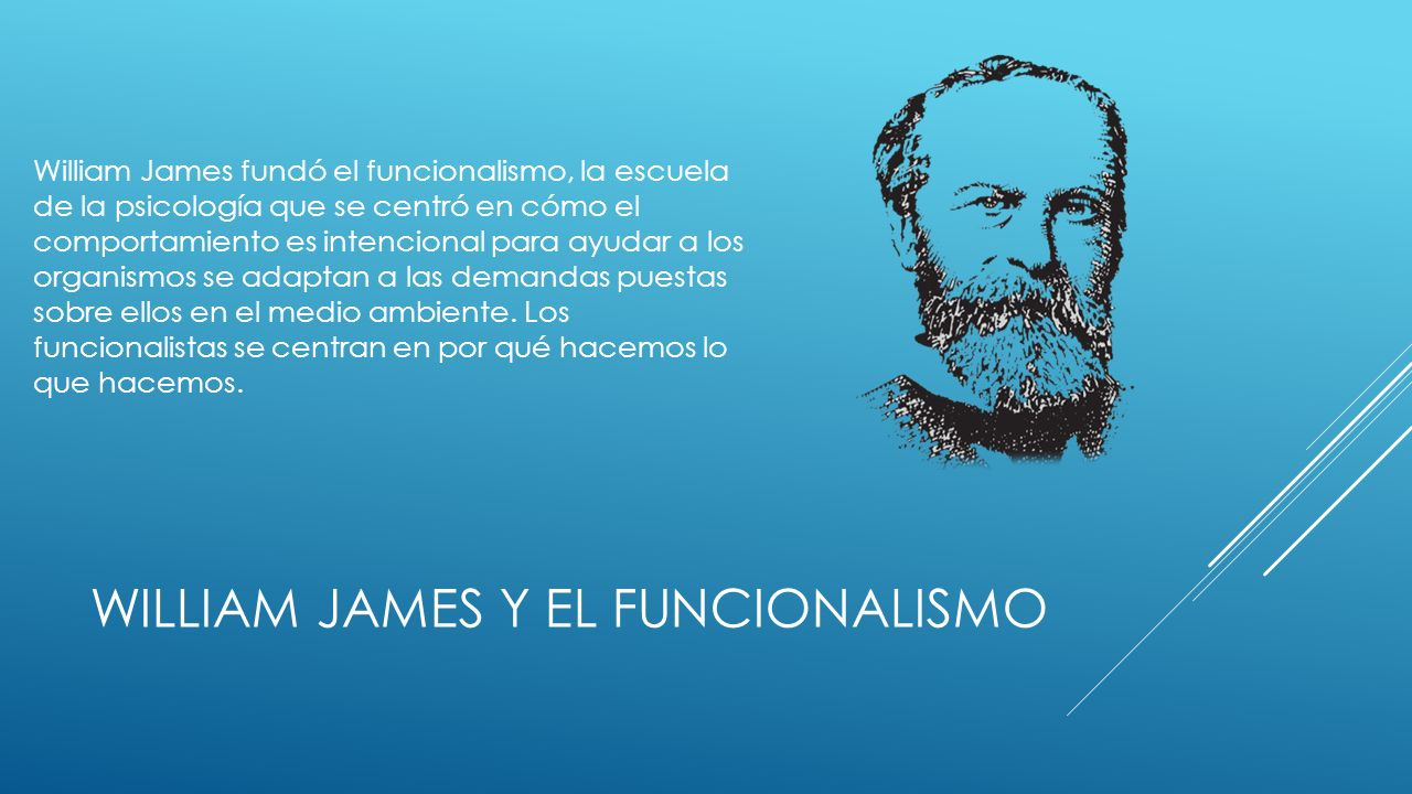 William James y el funcionalismo