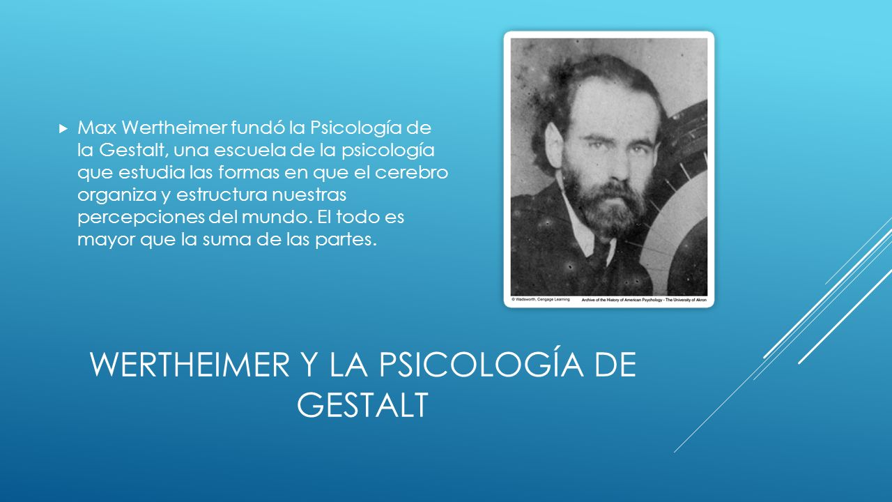 Wertheimer y la psicología de gestalt