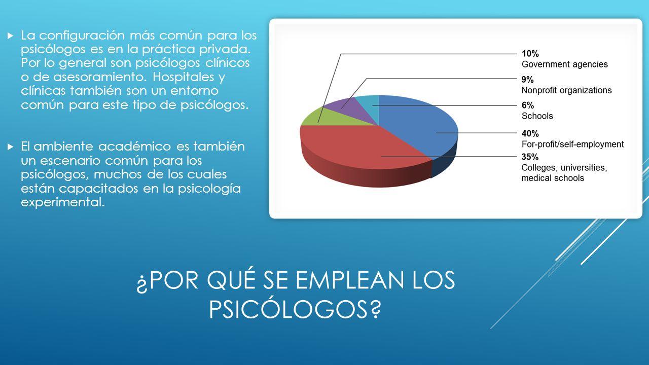 ¿Por qué se emplean los psicólogos