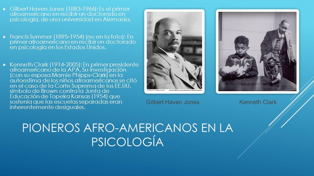 Pioneros afro-americanos en la psicología