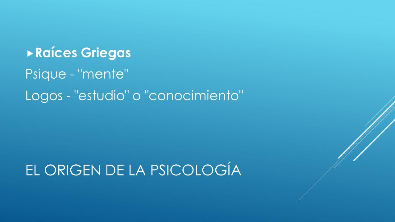 El Origen de la Psicología