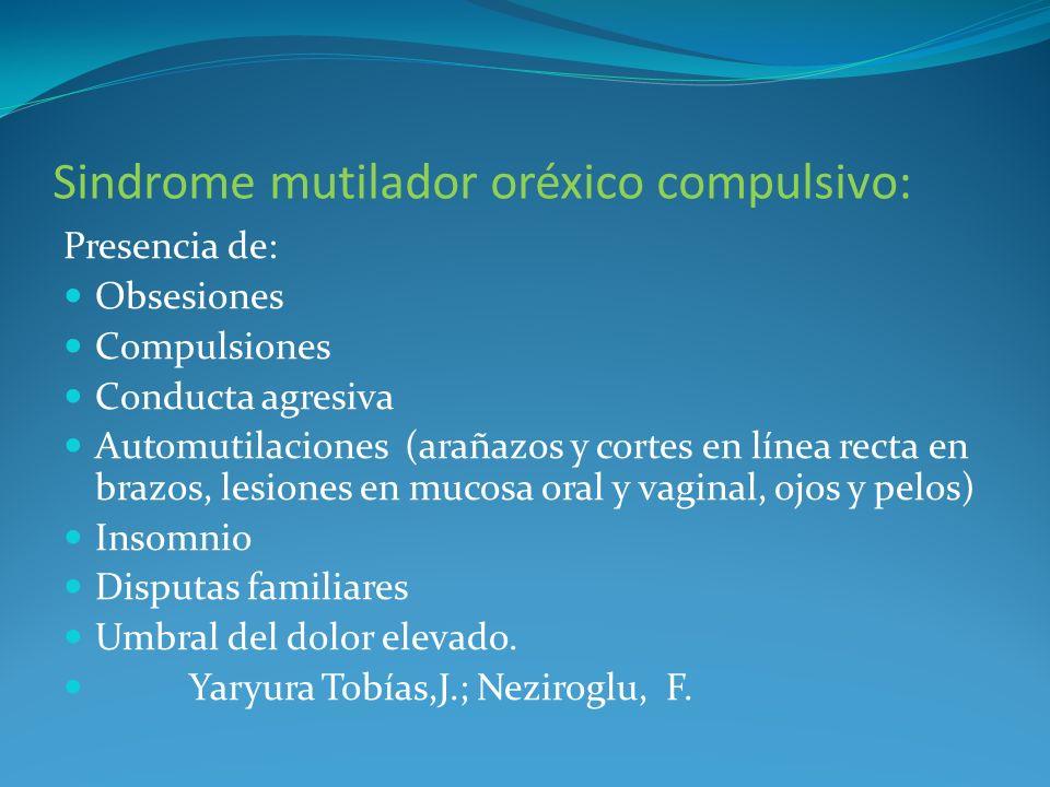 Sindrome mutilador oréxico compulsivo: