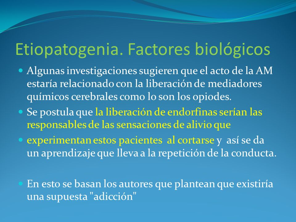 Etiopatogenia. Factores biológicos