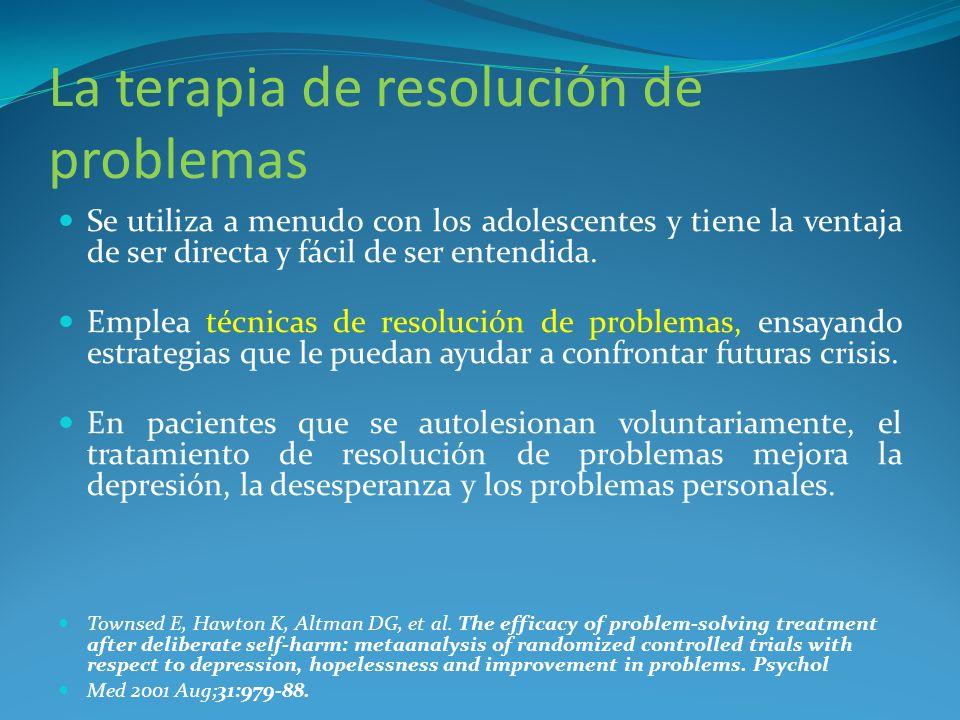 La terapia de resolución de problemas