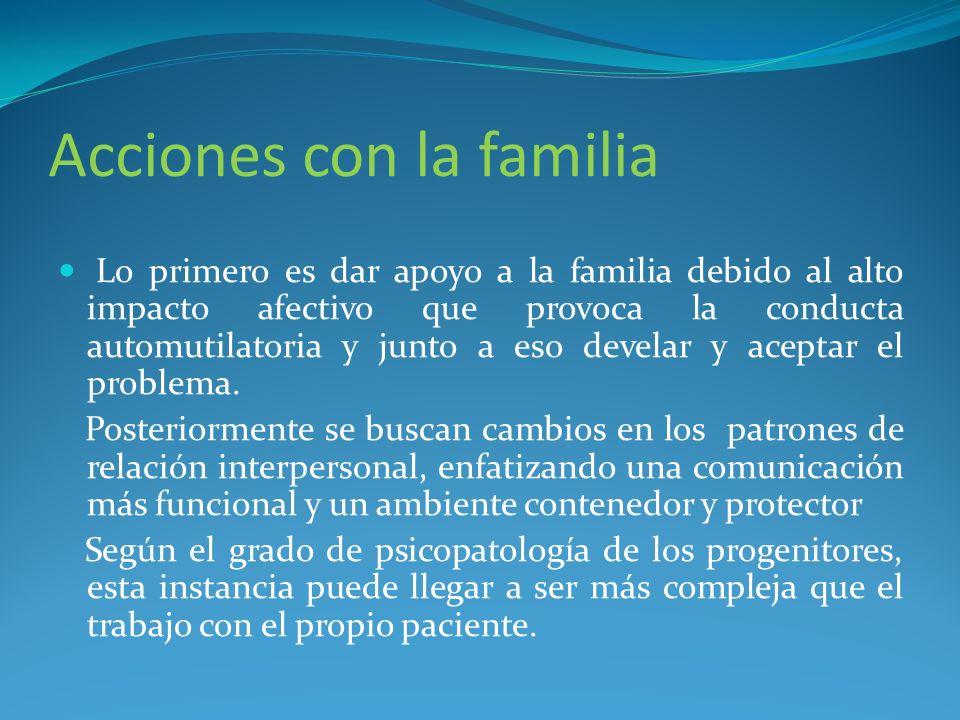 Acciones con la familia