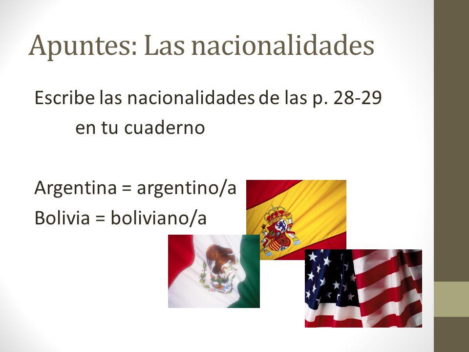 Apuntes: Las nacionalidades