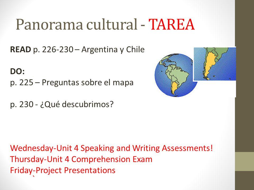 Panorama cultural - TAREA