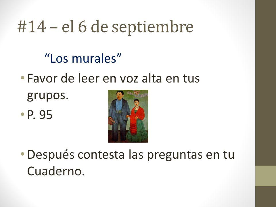 #14 – el 6 de septiembre Los murales
