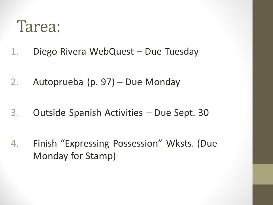 Tarea: Diego Rivera WebQuest – Due Tuesday