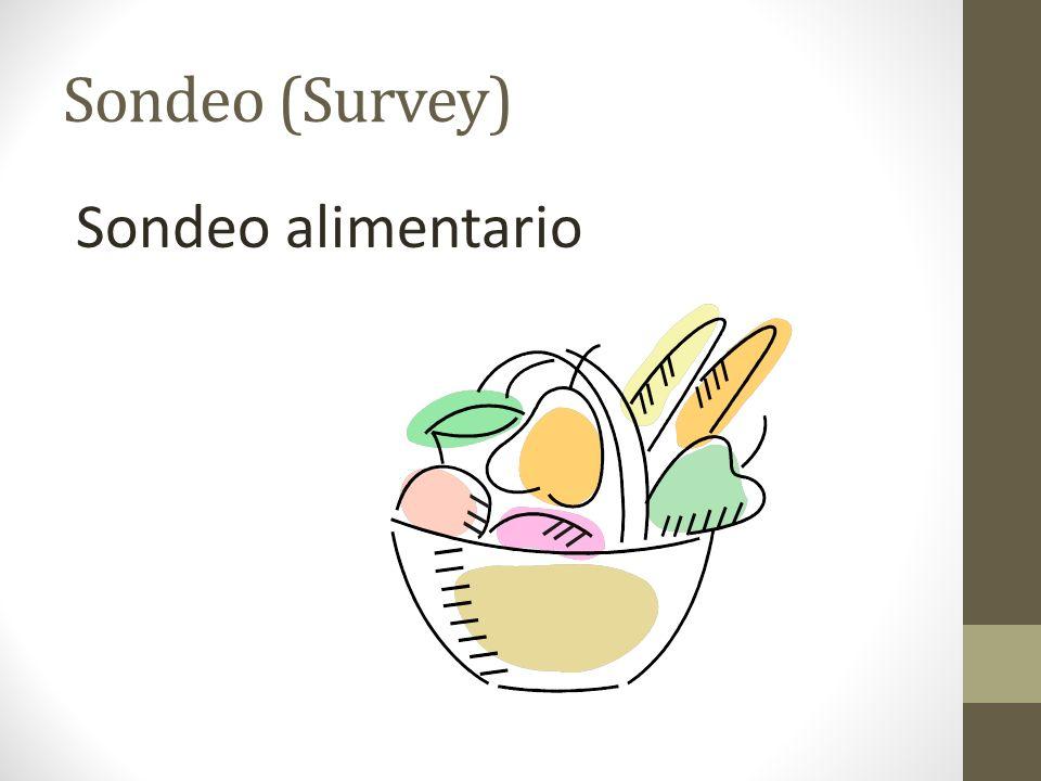 Sondeo (Survey) Sondeo alimentario