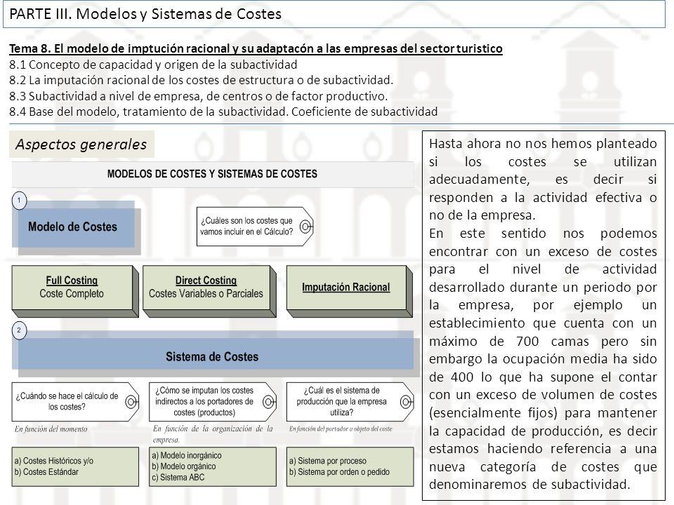 PARTE III. Modelos y Sistemas de Costes