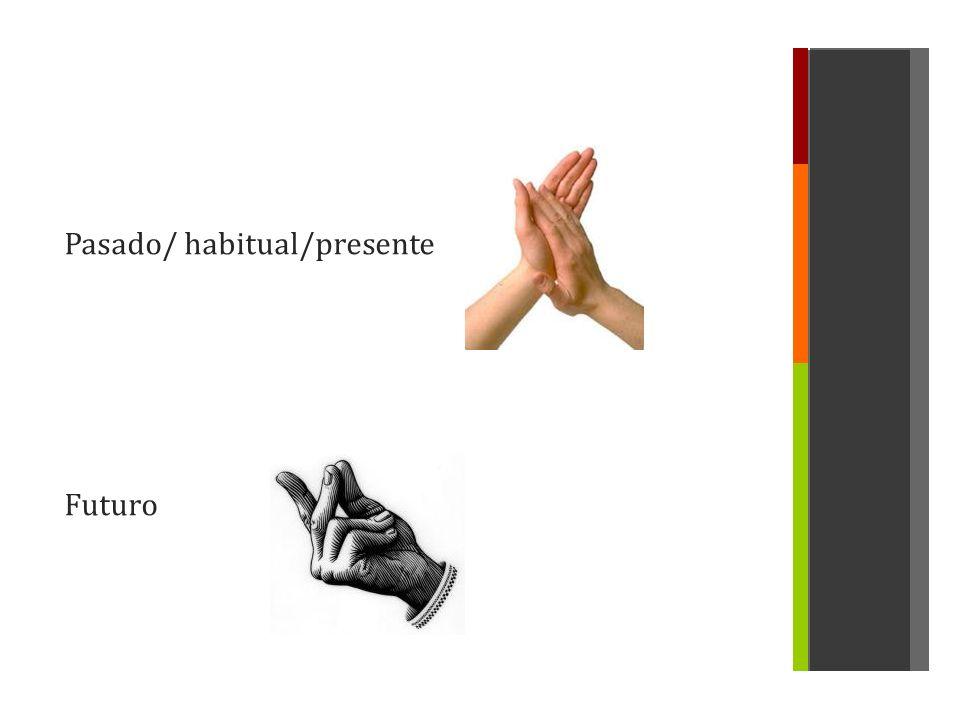 Pasado/ habitual/presente