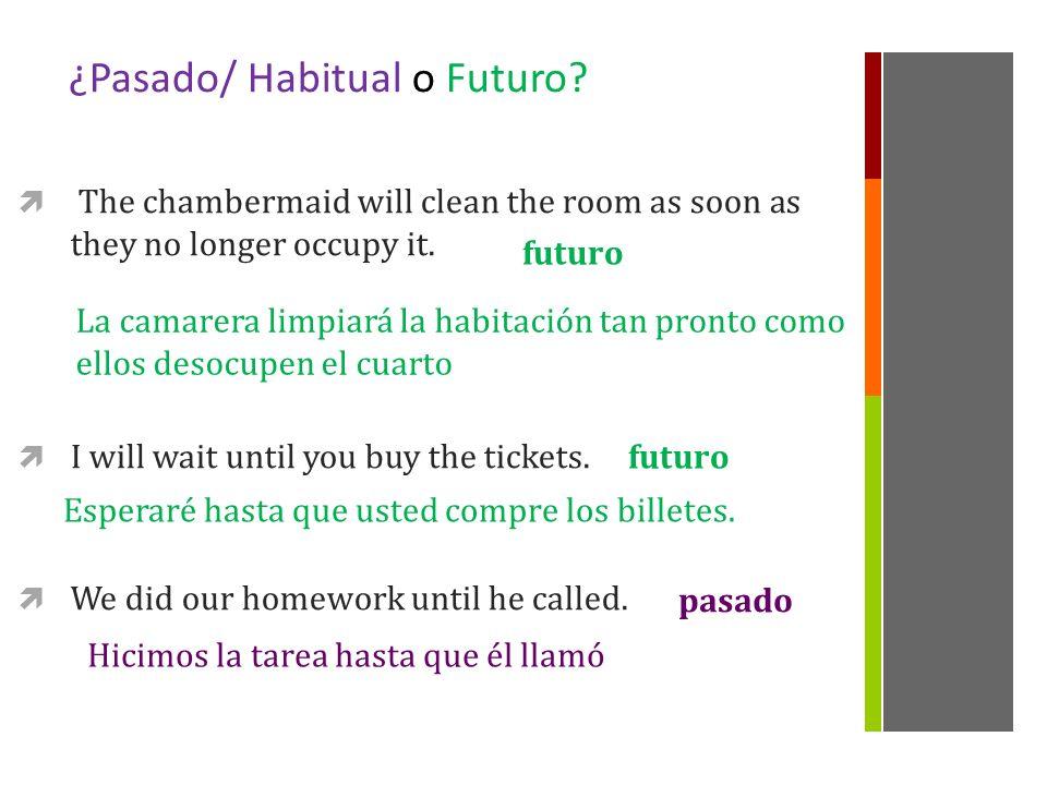 ¿Pasado/ Habitual o Futuro