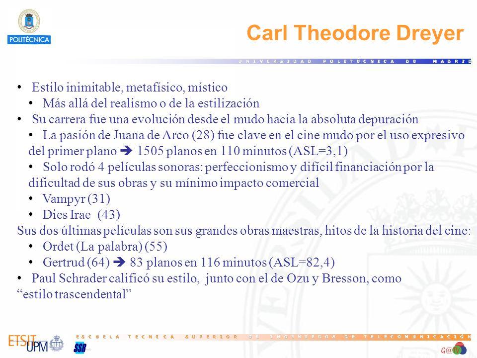 Carl Theodore Dreyer Estilo inimitable, metafísico, místico