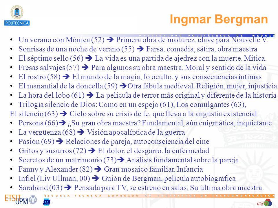 15 Ingmar Bergman. Un verano con Mónica (52)  Primera obra de madurez, clave para Nouvelle V.