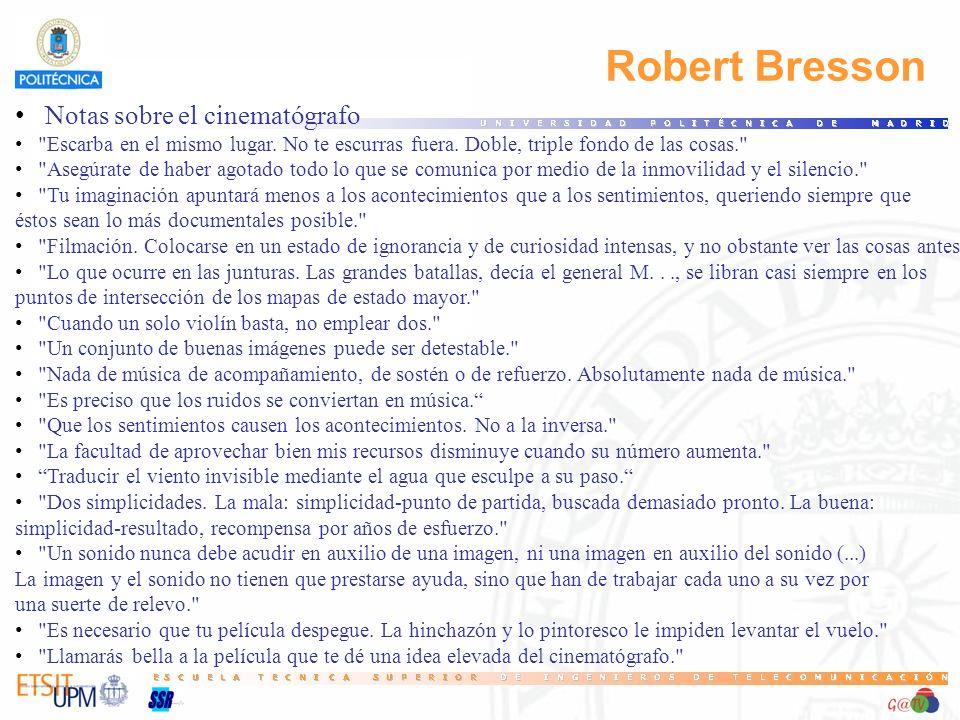 Robert Bresson Notas sobre el cinematógrafo 25