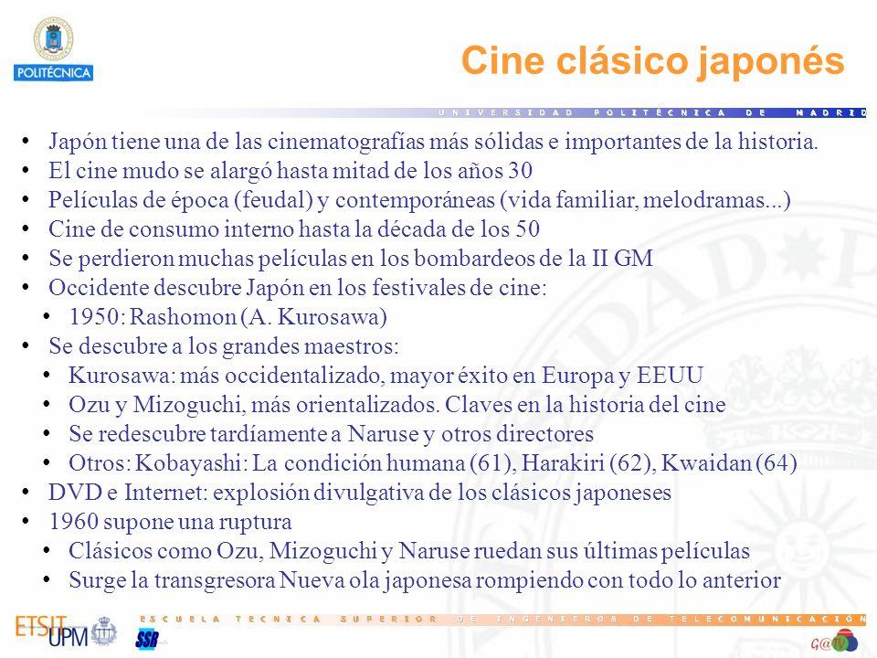 27 Cine clásico japonés. Japón tiene una de las cinematografías más sólidas e importantes de la historia.