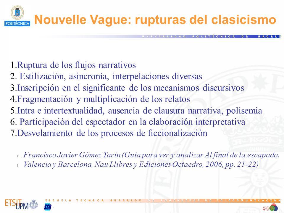 Nouvelle Vague: rupturas del clasicismo