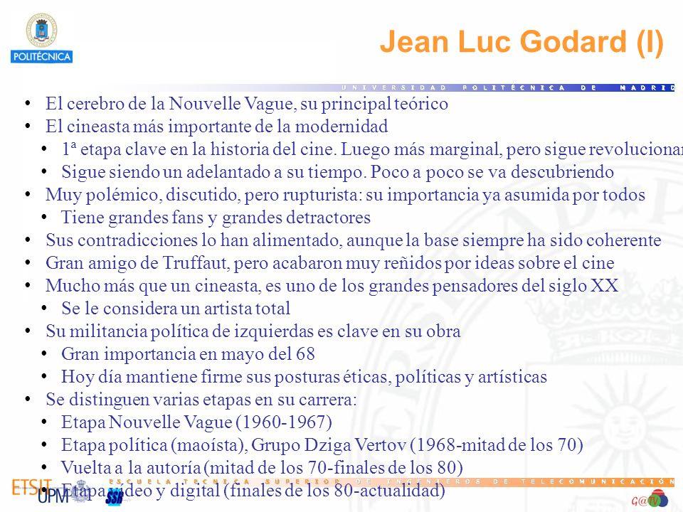 46 Jean Luc Godard (I) El cerebro de la Nouvelle Vague, su principal teórico. El cineasta más importante de la modernidad.