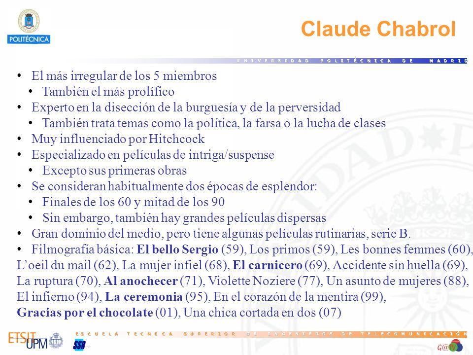 Claude Chabrol El más irregular de los 5 miembros