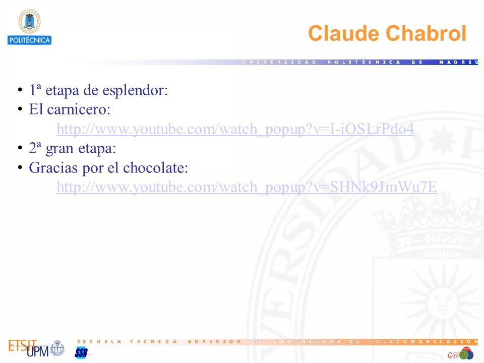 Claude Chabrol 1ª etapa de esplendor: El carnicero: