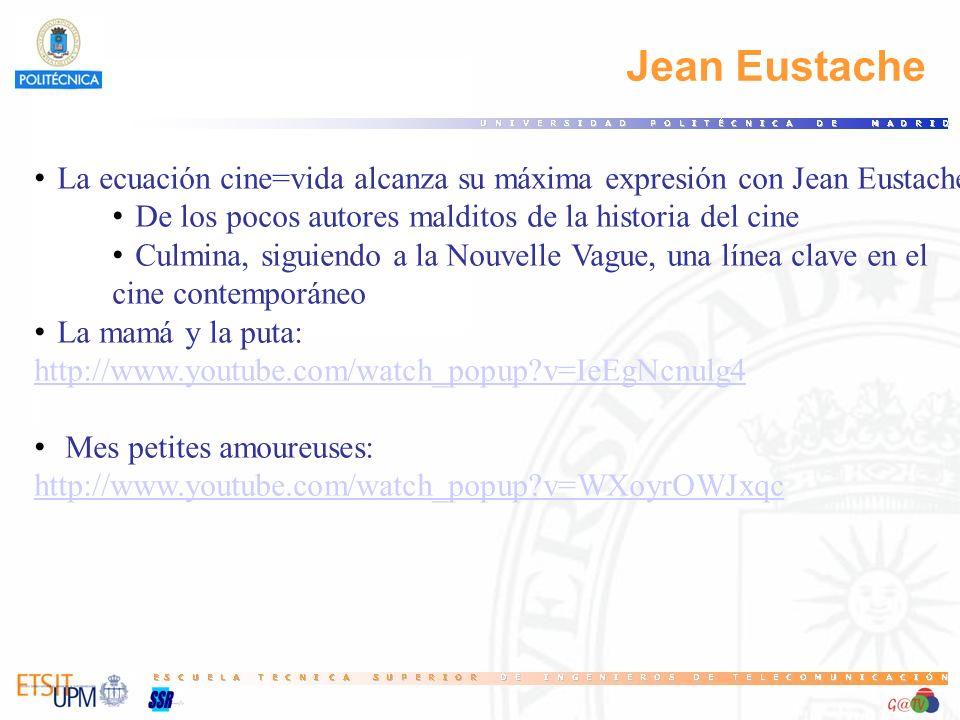 64 Jean Eustache. La ecuación cine=vida alcanza su máxima expresión con Jean Eustache. De los pocos autores malditos de la historia del cine.